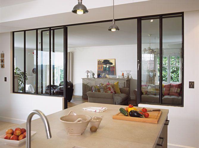 cloison vitre cuisine industriel cuisine by gommezvaz architecte with cloison vitre cuisine. Black Bedroom Furniture Sets. Home Design Ideas